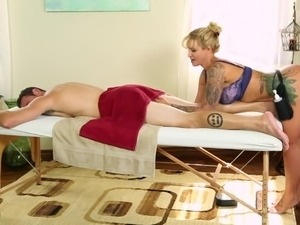 Busty mature masseuse