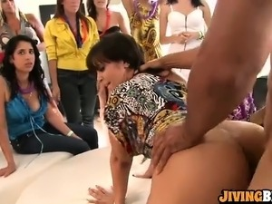 Hot CFNM fucking at the party
