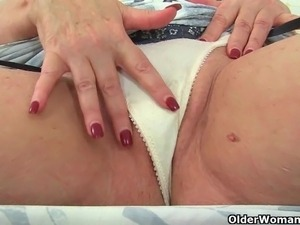 English milfs Vintage Fox and Alicia Rydes stripping off