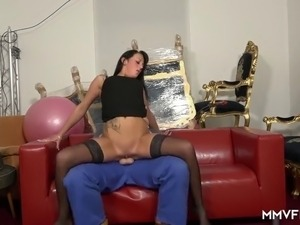 Roxy Roxx is one sexy fox and knows how to fill her pussy with cock and her...
