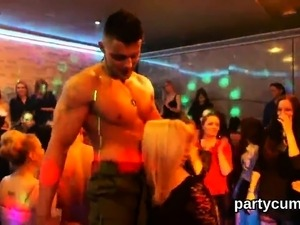 Slutty cuties get fully crazy and naked at hardcore party