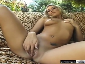 Nasty babe Tiffany has two black bulls drilling her honey hole outside