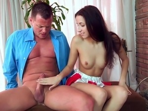 Cheerleader seduces not stepfather