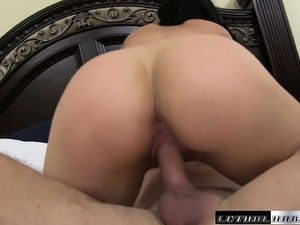 Buxom Violet Winters has her man pounding her snatch all over the bed