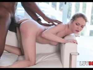 Blonde Beauty Angel Smalls Takes BBC