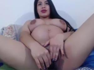 Pregnant Hispanic Masturbating