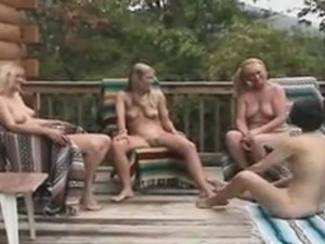 Granny picnic turns into black dick BJ event