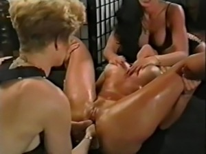 Lesbian Anal Orgy with Strapon