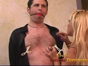 Horny stud enjoys having some kinky fun with a busty blonde