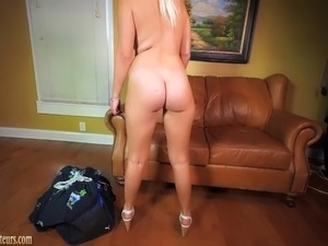 Hot big boob teen gets wild on casting couch