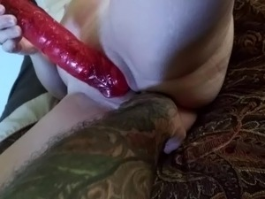 Sexy Milf wife with BIG VIBRATING DILDO