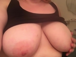 BBW plays with big tits