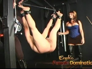 Two stunning busty playgirls have some fun with a horny