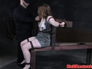 Sex slave bentover for ass punishment