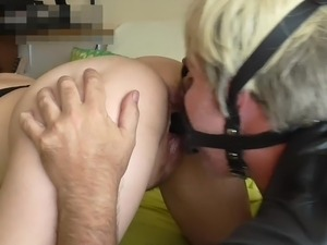Face Sitting Slave Fucking Me In Face Mask Dildo