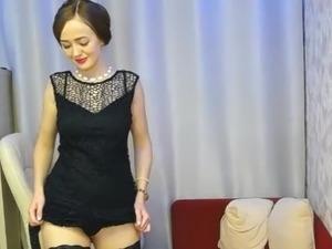 MILF removes little black dress