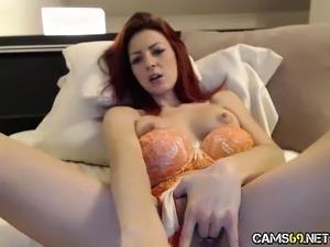Sexy Redhead MILF Fingering on Webcam - Cams69 dot net