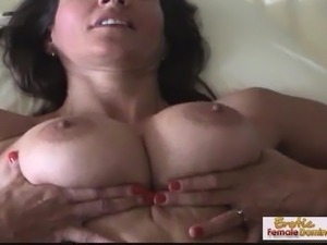 Horny natural tit MILF is a nasty slut