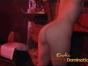 Lusty brunette slut enjoys getting tied-up and spanked reall