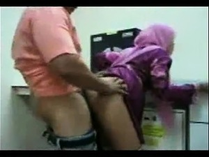 Sexy arab girl fucking her chef at the office