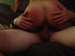 Fucking a hotwife while cuckold husband films