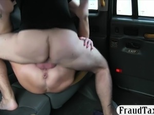 Hot amateur passenger gives head and railed in the cab