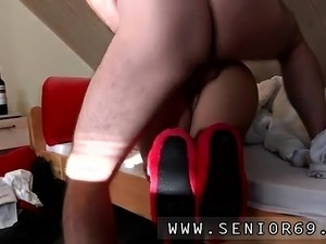Horny old mom first time Scarlet is to late with paying the