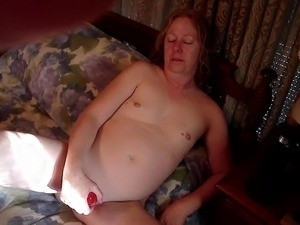 Wife with Pink dildo