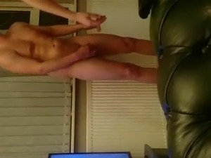 Romani Escort Get  Creampied On an ugly Sofa