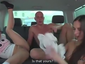 Higway Threesome - Fuck and Eat while Driving!