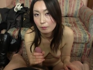 Subtitled Japanese gravure model hopeful POV blowjob in HD