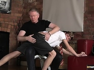 Spanked and stroked off, poor British boy Jacob Daniels
