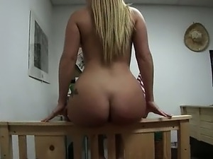 horny blonde girl fucking with friend