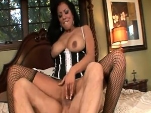 Kiara Mia - Busty Latina Maid Riding On A Hard Cock