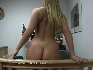Hot blonde chick fucking with friend