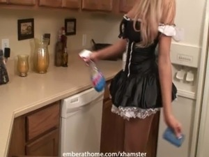 Maid Kitchen Masturbation free