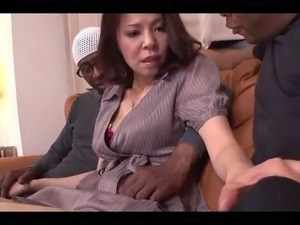 42yr old Wife Misato Shiraishi Fucks 3 BBCs (Uncensored)