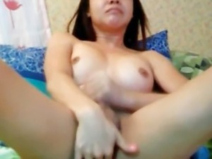 Tranny Cums and Licks her Own Jizz