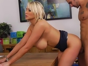 Alanah having sex at work