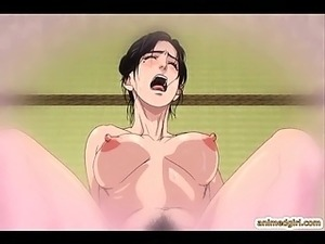 Busty hentai Japanese group fucking and cumming