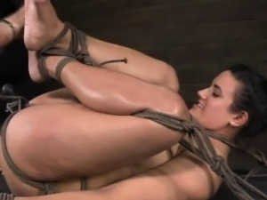 Balltied sub dildofucked and spanked