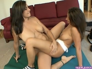 Lizz Tayler and Raylene get together for a private workout,