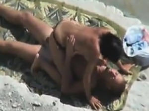 Couple Fuck At The Beach
