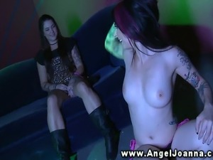 Angel Joanna loves to strip for her slutty friend HD