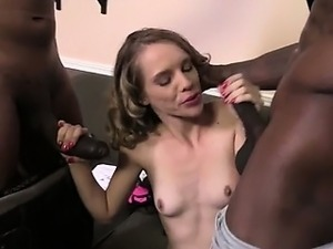 Teen Beckie Lynn Creampied by 5 Black Cocks