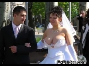 Real Brides Show Their Pussies! free