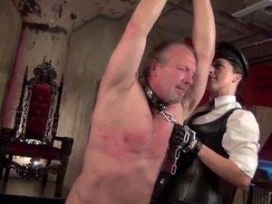 Mistress Bella Blackheart caned with utter cruelty