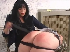 Big girl spanked till She Cry's
