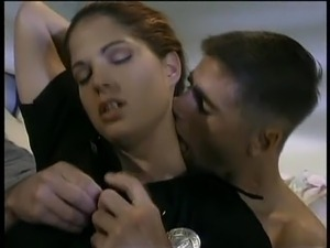 Brunette Policewoman - Bedroom Seduction