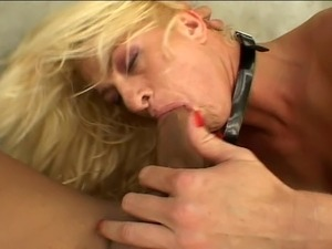 Athletic blonde dildoed, ball gagged, and ass fucked